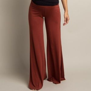 Boob Rust Wide Leg Maternity Pants